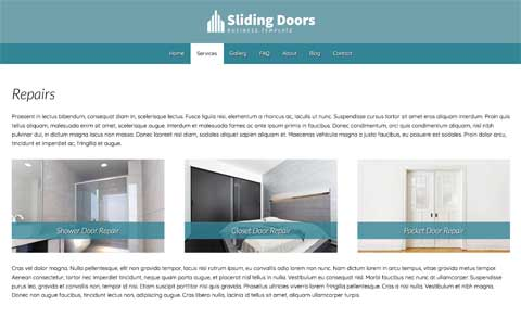 Sliding Door WordPress Theme - Strong service pages