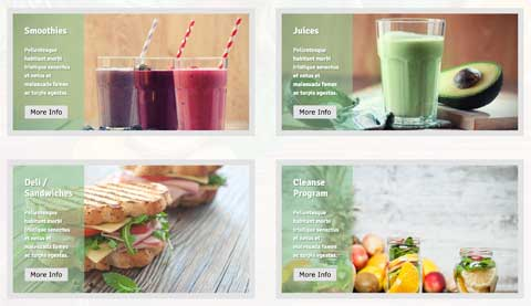 Smoothie WordPress Theme - Highlighted services