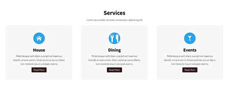 Social Club WordPress Theme - Highlighted services