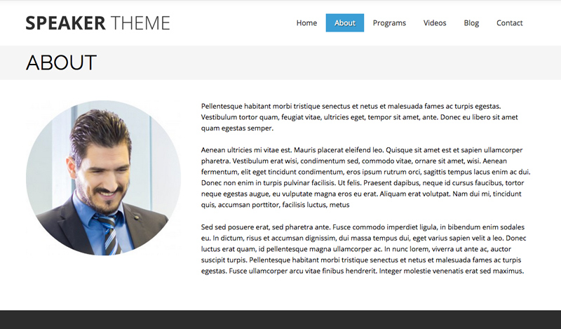 Speaker WordPress Theme - Introduce your business
