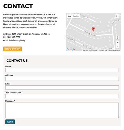 Surfing WordPress Theme - Helpful contact information