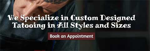 Tattoo Studio WordPress Thema - Klikbare call-to-actions