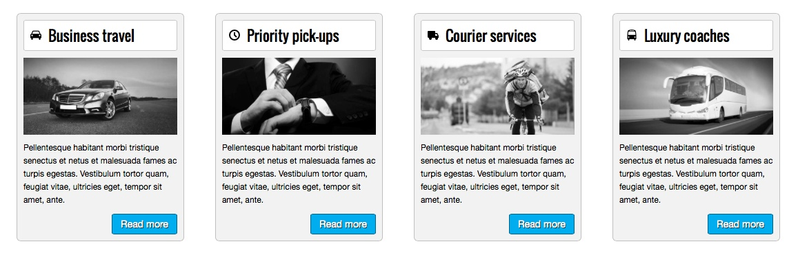 Taxi WordPress Theme - Overview of services