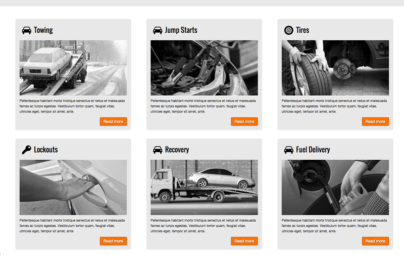 Towing WordPress Theme - Service pages