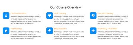 Training Center WordPress Theme - Featured services