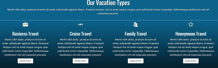 Travel Agency WordPress Theme - Service pages