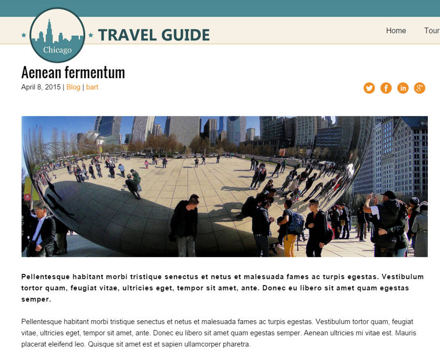 Travel Guide WordPress Theme - Powerful blog options