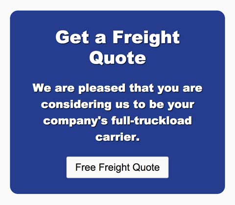 Trucking WordPress Theme - Prominent call-to-actions