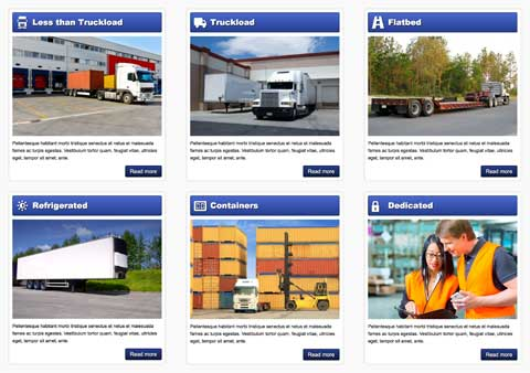 Trucking WordPress Theme - Overview of services
