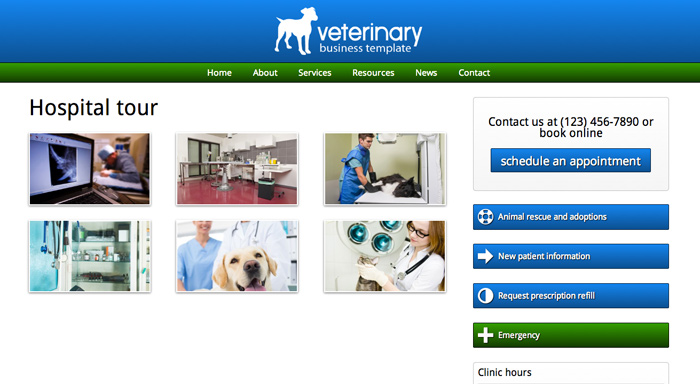 Veterinary WordPress Theme - Appealing image gallery