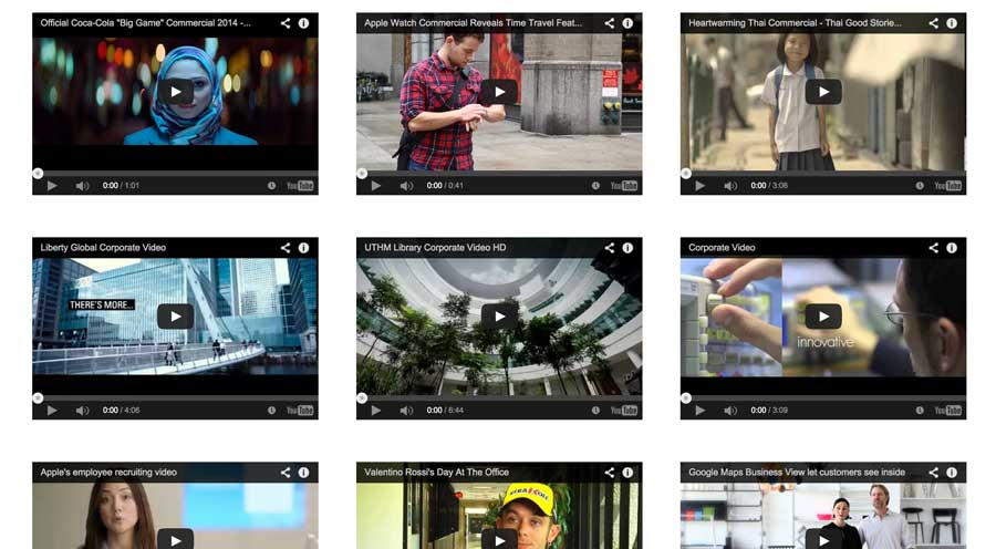 Video Production WordPress Theme - Video section