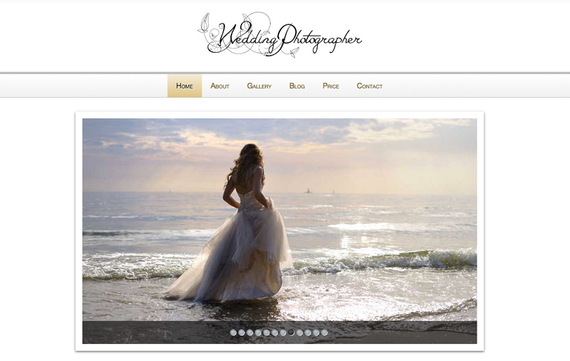 Wedding Photographer WordPress Theme - Classic slider