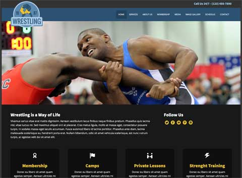 Wrestling WordPress Theme - Clean, accessible design