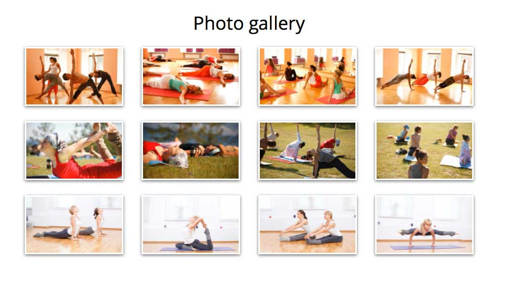 Yoga WordPress Theme - Beautiful gallery