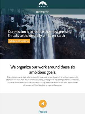 tablet screenshot Charity WordPress Theme