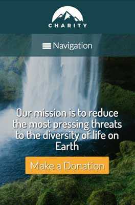 mobile phone screenshot Charity WordPress Theme
