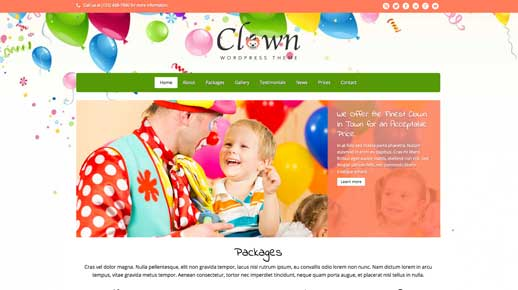 desktop screenshot Clown WordPress Theme