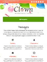 tablet screenshot Clown WordPress Theme