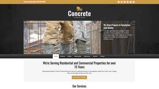 desktop screenshot Concrete WordPress Theme