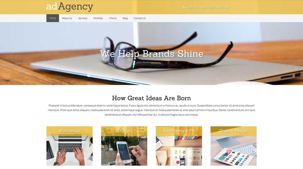 desktop screenshot Creative Agency WordPress Theme