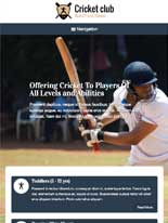 tablet screenshot Cricket Club WordPress Theme