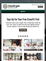 tablet screenshot CrossFit WordPress Theme