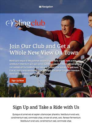 tablet screenshot Cycling Club WordPress Theme