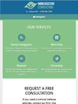 tablet screenshot Immigration Consulting WordPress Theme