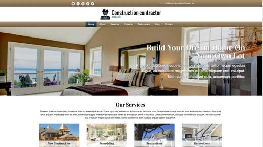 desktop screenshot Construction Contractor WordPress Theme