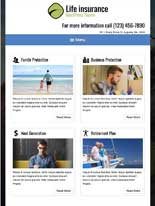 tablet screenshot Life Insurance WordPress Theme