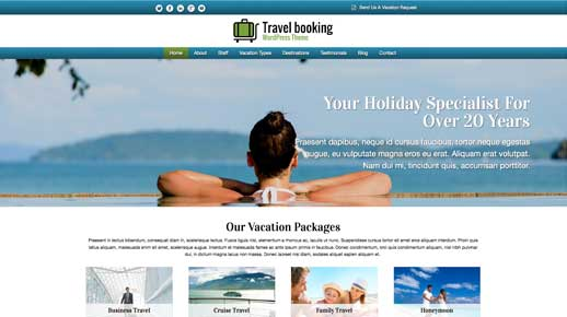 desktop screenshot Travel Booking WordPress Theme