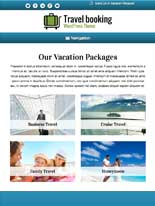 tablet screenshot Travel Booking WordPress Theme