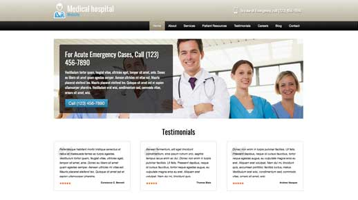 desktop screenshot Medical Hospital WordPress Theme