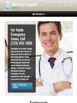 tablet screenshot Medical Hospital WordPress Theme