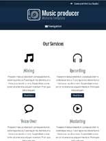 tablet screenshot Music Producer WordPress Theme