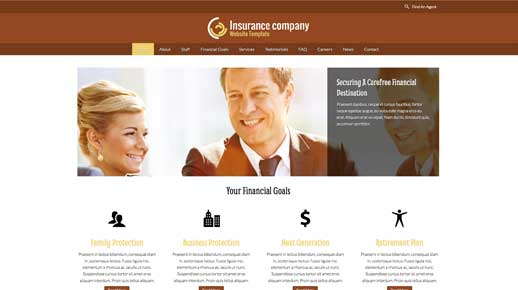 desktop screenshot Insurance Agency WordPress Theme