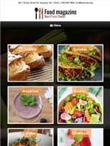 tablet screenshot Food Magazine WordPress Theme