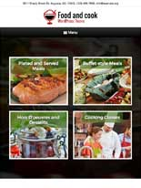tablet screenshot Food And Cook WordPress Theme