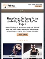 tablet screenshot Actress WordPress Theme
