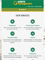tablet screenshot Waste Management WordPress Theme