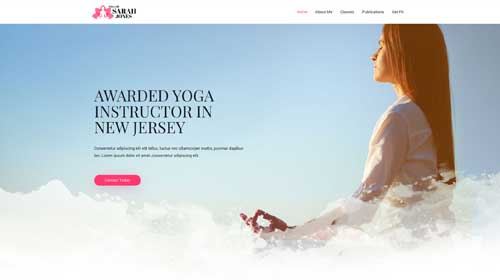 desktop screenshot Yoga Instructor Astra Starter Site