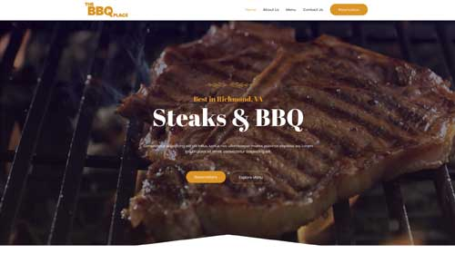 desktop screenshot BBQ Restaurant Astra Starter Site