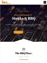 tablet screenshot BBQ Restaurant Astra Starter Site