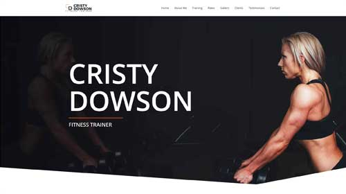 desktop screenshot Personal Trainer Astra Starter Site