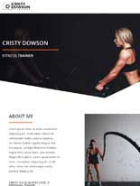 tablet screenshot Personal Trainer Astra Starter Site