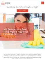 tablet screenshot Cleaning Services Astra Starter Site