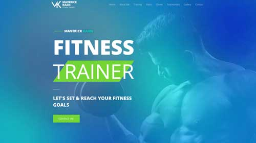 desktop screenshot Fitness Astra Elementor Starter Site