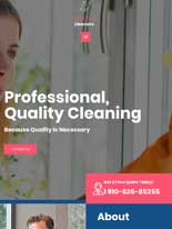 tablet screenshot Cleaning Services Astra Elementor Starter Site