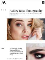 tablet screenshot Photography Portfolio Astra Starter Site