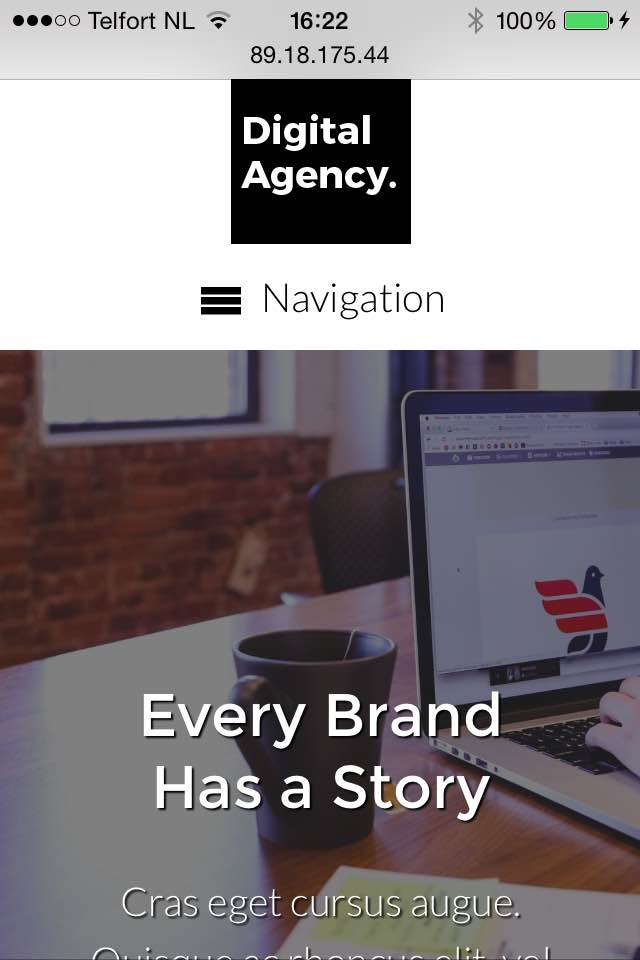 mobile phone screenshot Digital Agency WordPress Theme